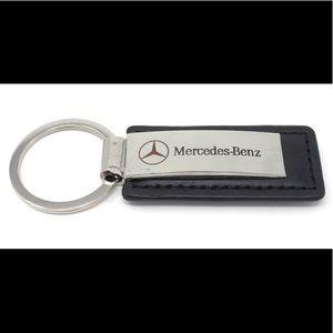 Mercedes Benz Black Leather Key Ring
